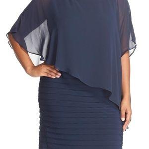 ADRIANNA PAPELL Plus Size Chiffon Dress